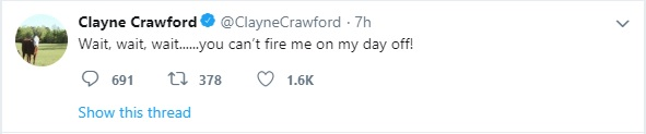 Clayne Crawford fired