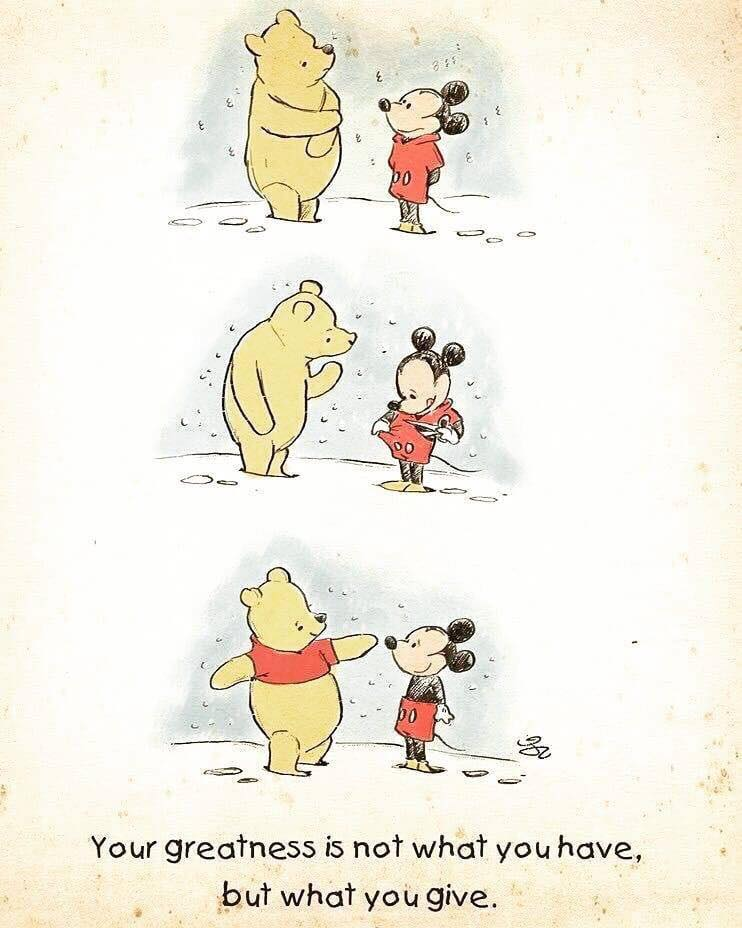Winnie the Pooh and Mickey Mouse