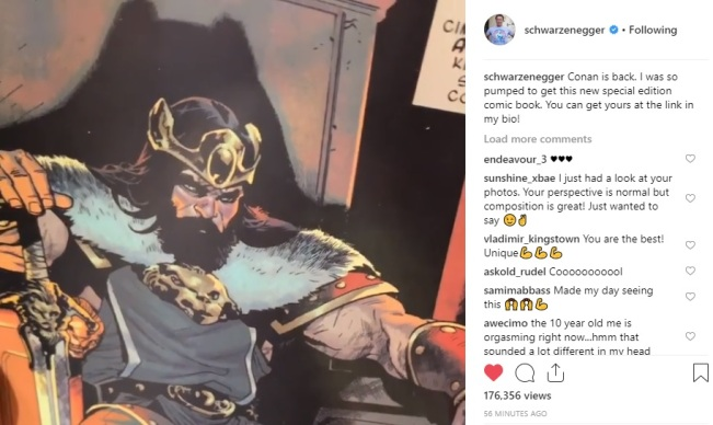 Did Arnie just announce a Conan the Conqueror movie? | It's A Stampede!